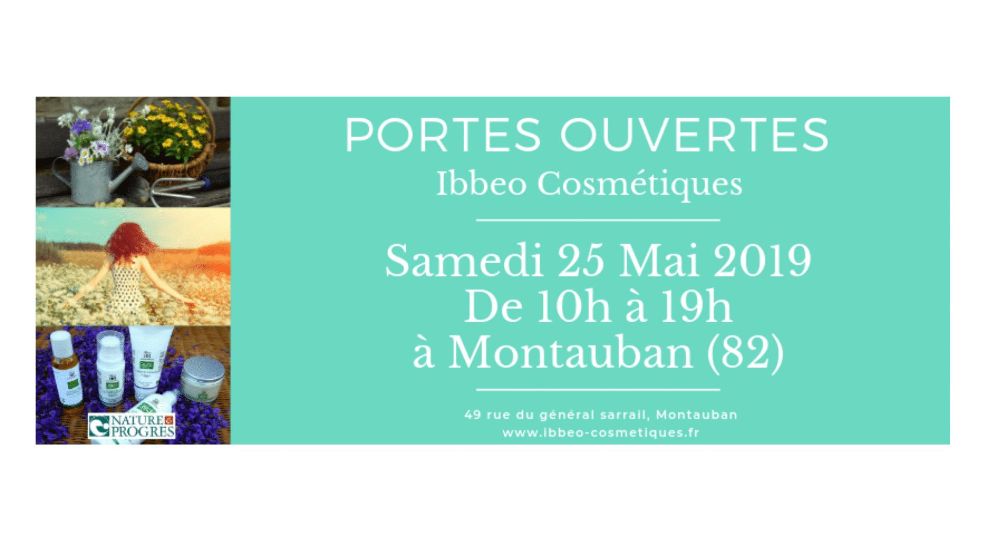 Portes ouvertes 2019 Ibbeo Cosmétiques à Montauban (82)